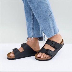 Birkenstock🔴black leather Arizona size 38